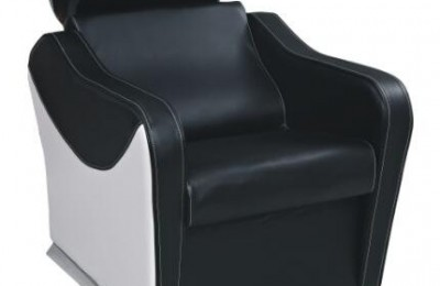 Fashion Leather Backwash Shampoo Hair Unit Lay Down Salon Sink Chair with Basin in Guangzhou