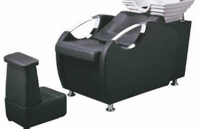 Hair salon furniture black shampoo bed shampoo backwash unit
