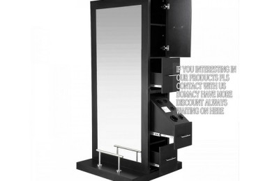 Wooden beauty hair salons mirror styling station salon furniture