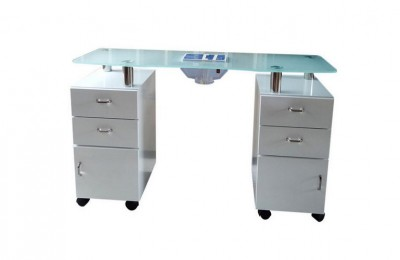 Wholesale nail technician desk spa manicure table station with dust collector