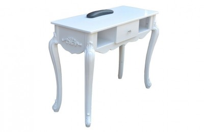White salon equipment nail technician desk spa manicure table station
