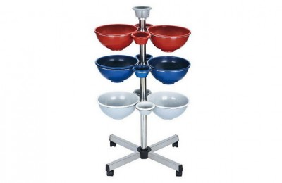 Modern hairdressing hair dye coloring salon trolley hair color tint bowls
