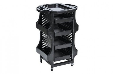 Durable Plastic barber styling equipment rolling storage tray cart beauty salon trolley