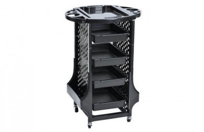 High quality plastic barber hairdressing equipment rolling storage tray cart beauty salon trolley