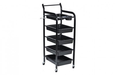 China Beauty Salon Spa Styling Station Trolley Equipment Storage Tray Cart with wheels