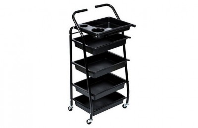 Multi-purpose Salon Utility Storage Tray Cart Barber Trolley Hairdressing Equipment