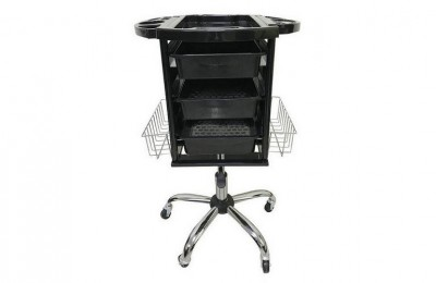Wholesale Height Adjustable Rolling Storage Tray Cart Hair Salon furniture Trolley Styling Station