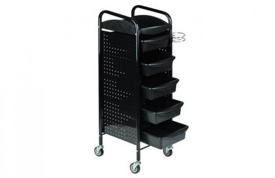 Mobile hairdressing tool rolling tray cart salon stylist special trolley on wheels