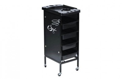 Cheap hairdresser rolling cart salon rolling tray station with drawers barber furniture in UK