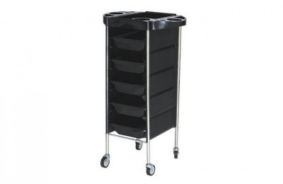 South Africa Wholesale Mobile Beauty Storage Cart Salon Hairdresser Rolling Trolley Barber Furniture