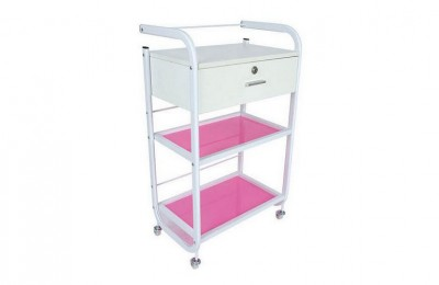 White Manicure Rolling Storage Cart Beauty Spa Trolley Salon Furniture China Factory
