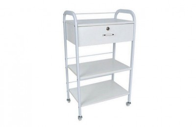 White Facial Manicure Rolling Storage Cart Beauty Spa Pedicure Trolley Salon Equipment
