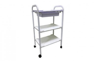 New Salon Rolling Trolley Cart w/ 3 Levels of Shelves for Storage Cart Tray Workstations