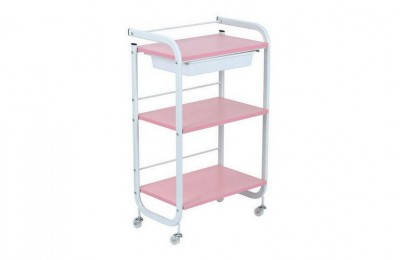 3 levels Metal Utility Cart Beauty Manicure Rolling Storage Tray Cart Spa Pedicure Trolley