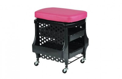 Portable manicure station pedicure stool nail trolley salon chair beauty rolling storage cart