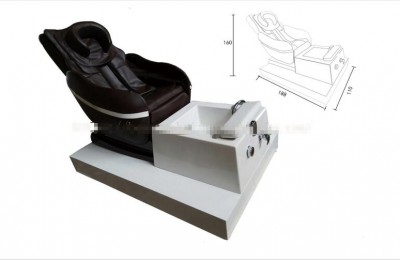 Full body airbag kneading massage foot spa station pedicure salon manicure nail chairs