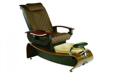 Top quality leather foot massage station spa pedicure chair for ladies with basin