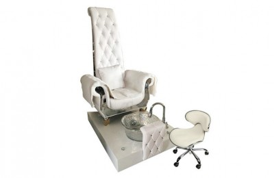 High Back Queen Throne Chair King Pedicure Station Used Nail Salon Sofa with foot basin