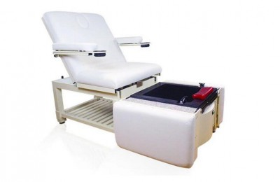 Folded manicure pedicure chairs foot spa massage station salon bed with bowls