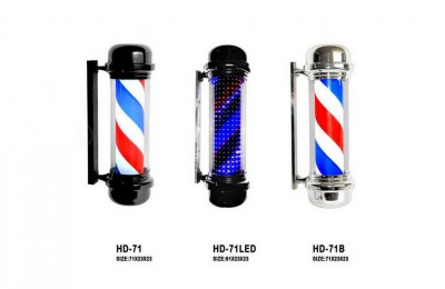 barber shop hair turn lights hair salon lights outdoor wall LED color light PVC plastic waterproof lights