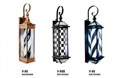 Outdoor Hairdressing Bar Beauty Turn Signal Hair Salon Logo Light Box Turn Light Barber Pole Hair Salon Hanging Lamp