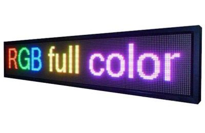 Outdoor Full Color Digital Scrolling Text Moving Message Mini Neon Open Programmable Led Sign Board