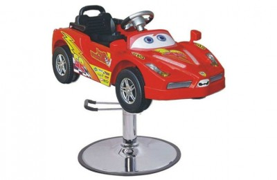 LCL Beauty Children's Red Sports Car Baby Hydraulic Cutting Seating Salon Styling Chair