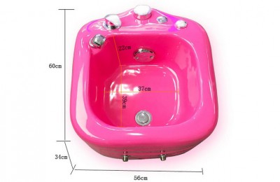 Color pedicure tub bowl chair with led light foot spa massage station sink