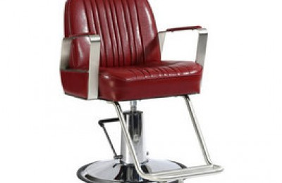 salon equipment hydraulic red hair cutting styling chair for barber shop