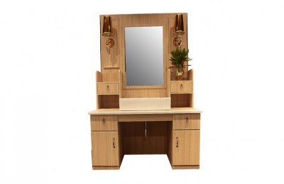 Beauty styling station wooden counter salon mirror wash basin table