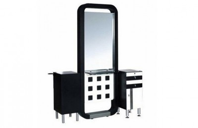 Cheap Salon Cabinet Counter Styling Mirrors Hairdressing Stations