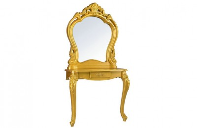 Classic European Gold Glass Styling Stations Beauty Mirrors Table