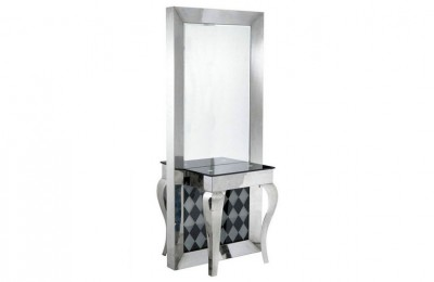 Wholesale Double Stainless Steel Barber Mirrors Styling Stations