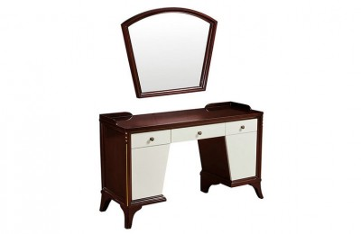 wood hotel makeup station bedroom dressing table styling mirrors