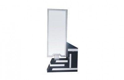 Double sided styling stations salon makeup mirrors