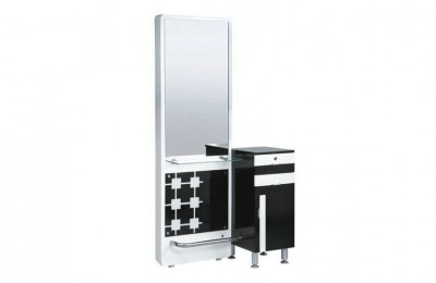 Double sided styling stations salon makeup mirrors counters