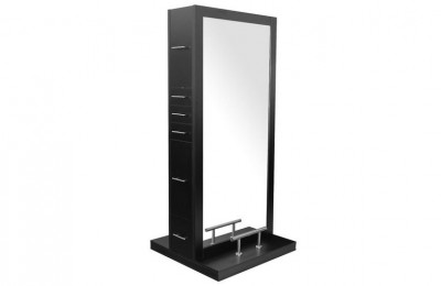 ODYSSEY double sided salon barber mirror styling station with led light