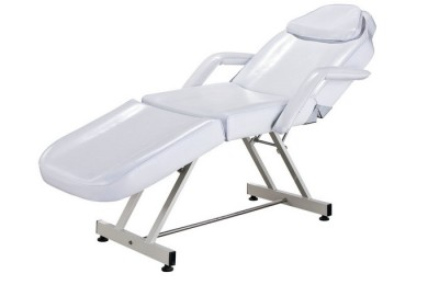 White beauty facial bed massage table tattoo chair spa equipment