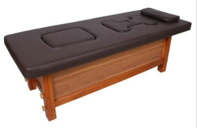 Wood steam treatment massage bed facial table