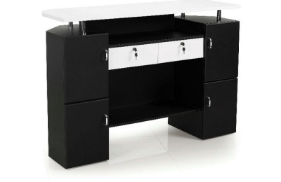 Cheap nail reception front desk beauty table checkout counter salon furniture Alibaba