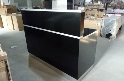Black nail reception front desk beauty table spa checkout counter salon furniture
