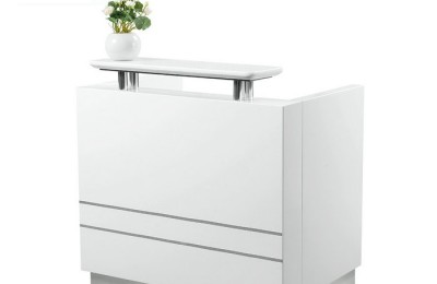White nail station reception front desk beauty table checkout counter salon furniture