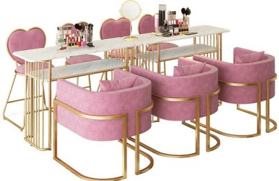 Hot sale nail spa station furnitures modern marble double nail desk manicure table sets
