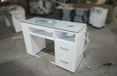 Modern nail station furniture manicure table and white nail salon table desk