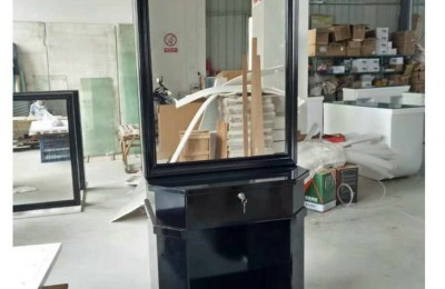Hot Sale Classic French Style All Black Mirror High Gloss Mirror Station
