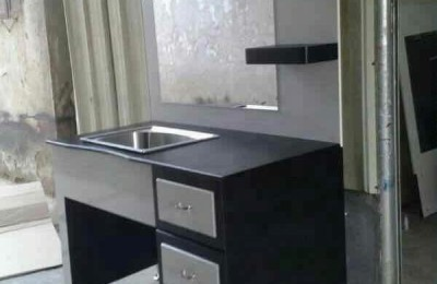 Classic European Style Simple Styling Station With Stainless Sink