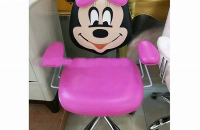 Adjustable Height Barber Cartoon Soft Kids Salon Haircut Chair Children Styling Stool Furniture Baby Hairdressing Seating