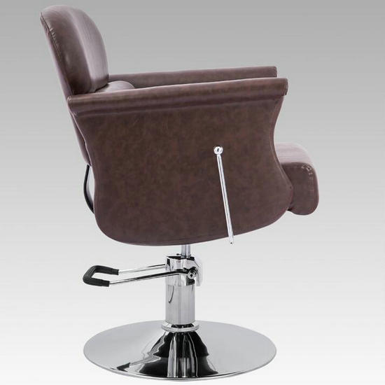 Prime All Purpose Brown Pu Leather Reclining Hair Barber Chair Theyellowbook Wood Chair Design Ideas Theyellowbookinfo