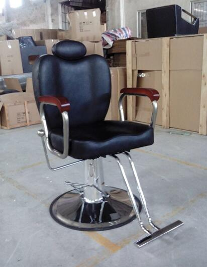 Tremendous Cheap Fully Recline Down Big Black Leather Barber Chair Gmtry Best Dining Table And Chair Ideas Images Gmtryco